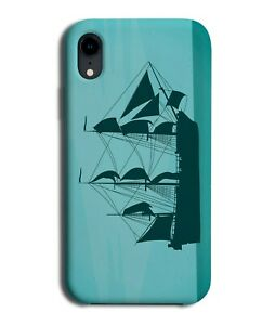 Pirates Ship Silhouette Shape Phone Case Cover Sea Pirate Ships Picture k058