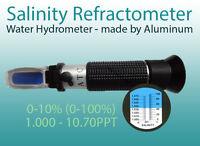 Salinity Refractometer for testing water Salinity & Gravity, Aquarium Hydrometer