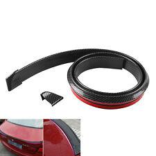 1.5M Carbon Fiber Car Rear Roof Trunk Spoiler Wing Lip Sticker Protector Decals