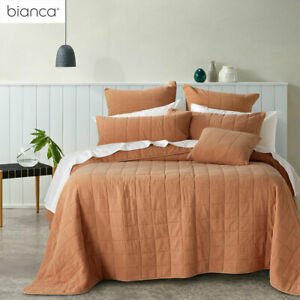 Geraldton Cinnamon Cotton Coverlet Set or Accessories by Bianca