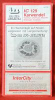 Izb Train Conductor Ic 129 Karwendel Hannover - München Innsbruck 7/1990