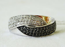 w. Sapphires & Cubic Zirconia (SsFh)#10 Vintage Sterling Silver Ring Sz.9 set