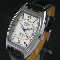 Men's Automatic Self-winding Mechanical Black Leather Classic Wrist Watch Day