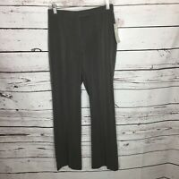 Sag Harbor Womens 4 Petite Gray Slimming Solution Dress Career Pants New K78