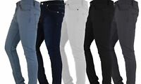 Mens Skinny Jeans Slim Fit Denim Super Stretch Regular Short Long All size