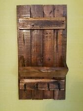 Rustic Entryway Key/Mail Holder.Wall Organizer.Early American stain.13.25 × 24.5