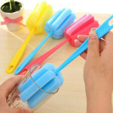 3PCS Kitchen Handle Sponge Brush Bottle Cup Glass Washing Cleaning Cleaner Tool
