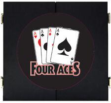 4 Aces Four Of A Kind Poker Dart Board Dartboard & Cabinet Kit Steel Tip Darts