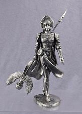 Magier Mädchen, eine schöne Figur eines Mädchens Krieger 75mm. Zinnfigur 1:24.