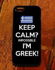 iPhone 5 case - Greek Flag Keep Calm impossible I'M Greek