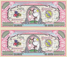 Two It's a Girl Birth Announcement Keepsake Bills #158