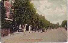 Surrey postcard DANBURY TERRACE, WALLINGTON early 1900's by M & W