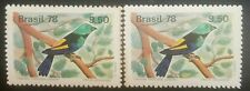 O) 1978 BRAZIL, COLOR VARIETY AND WIDER AT THE TOP, BIRD-BRAZILIAN CANARY-TANAGE