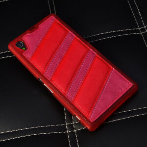 Colorful PU Leather Fitted Soft TPU For Sony Xperia Z1 L39H Case Back Cover S-CH