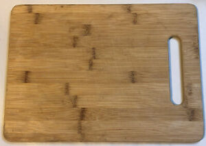 "Cutting Board - Wooden/Bamboo - w/Handle for Food Prep Vegetables 13""x9.5"""