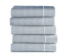 Peacock Alley Flat Twin Sheet Emma, Blue, New Luxurious! Prod #Emm-2T Blu