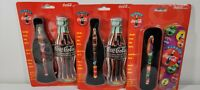 Lot 3 Coca Cola Coke Black Ink Ceramic Roller Ball Pen and Bottle Tin in Package
