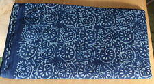 5 Yards Indigo Blue Dye Hand Block Print 100% Cotton Dabu Print Running Fabric