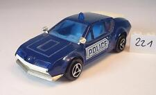 MAJORETTE 1/55 Nº 264 RENAULT ALPINE A 310 POLICE POLICE Nº 1 #221
