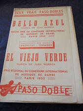 Partitura Azul De Bello El Viejo Verde Juan Morata 1952 Music Sheet