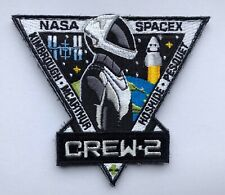 """Crew 2 bis Embroieded 4"""" Patch NASA Mission ISS Space X Dragon Falcon"""
