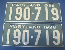 1928 Maryland license plates professionally restored