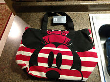 New listing Disney Store Mickey & Minnie Mouse Striped Canvas Tote Bag Nwt New Large Handled