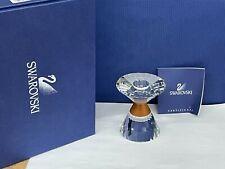 Swarovski Crystal & Wood Colonna Candleholder #631354 Signed Mint Nib