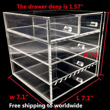 NEW Large Jewelry clear Acrylic case 5 Multipurpose drawer Organizer Box