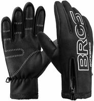 ROCKBROS Cycling Gloves Winter Autumn Windproof Cycling Gloves Black Touchscreen