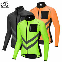 Mens Mortorcycle Windproof Jacket Cycling Bike Waterproof Jersey Reflective Coat