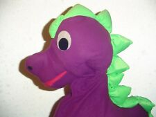 Purple dragon animal big mouth stage puppet for teacher, clown or ventriloquist