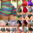 Us Womens Push Up Gym Yoga Booty Shorts Ruched Athletic Sports Workout Hot Pants