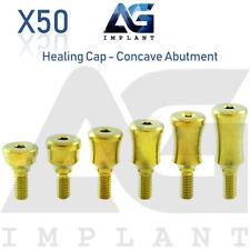 50 Standard Healing Cap Concave Abutment Titanium Dental Implant Internal Hex