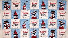 Christmas Fabric - Snowman Snow Daze Snowflake Quilting Treasures #23257 - PANEL
