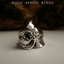 STUNNING CHUNKY SWEDISH SOLID SILVER SPOON RING 1966 *** LIMITED STOCK ***