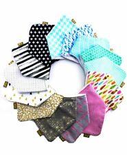 Dribble Bib Baby Bandana Adjustable Choose 100% Cotton / Terry Cloth FREE POST