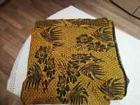 Blanket Coverlet Homespun Fabric Woven Wool Early