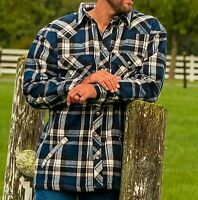 Mens Flannel Winter Thick Fleece Shirt Jacket Work Farming Fishing Outwear M-6XL
