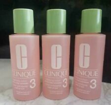 3 x Clinique Clarifying Lotion 3 Combination Oily Skin 2OZ/60ML*3 TRAVAL SIZE