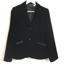 Vtg Laura Clement Designer Womens Black Velvet Velour Evening Tuxedo Blazer 12UK