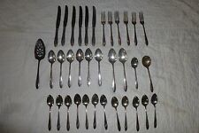 Vintage 36 Pc Oneida Community Tudor Plate Queen Bess ll Silver Plate Flateware