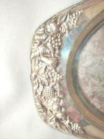 ANTIQUE Silver or Silver Plate Fruit Designed Tray