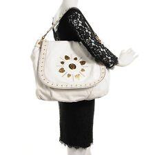 Authentic Gucci Irina White Leather Hobo Tote Bag Purse