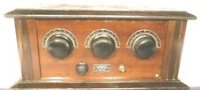 vIntage WORLD BATTERY RADIO: untested w/5 TUBE CAPACITY & GOOD TUNING ACTION