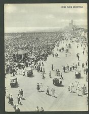 1940's Jumbo Postcard Coney Island Boardwalk Brooklyn New york Real Photo