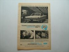 "1965 ""Ford Quietness--Heating and Cooling"" vintage '65 ad from private estate"