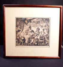 Spanish Fiesta Etching by Louis Szanto - Hungarian Realist Artist - Hand Signed