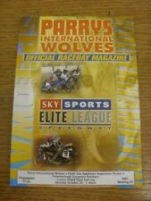 29/10/2001 Speedway Programme: Craven Shield Final - Wolverhampton v Poole v Pet
