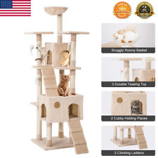 New listing 68Kitten Cat Tree Tower Condo Furniture Scratching Kitty Pet Play House Hammock
